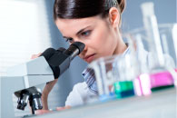 image of a scientist working  in a lab